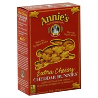 Annie's Homegrown Extra Cheesy Cheddar Bunnies Snack Crackers Cheddar Bunnies