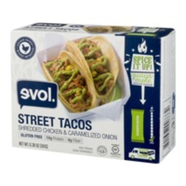 Evol Foods Korean Style Beef & Kimchi Street Tacos