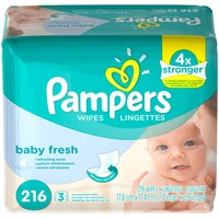 Pampers Baby Fresh Pampers Baby Wipes Baby Fresh 3X Refill 216 count  Baby Wipes