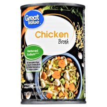 Great Value Canned Chicken Broth, Reduced Sodium, 14.5 oz