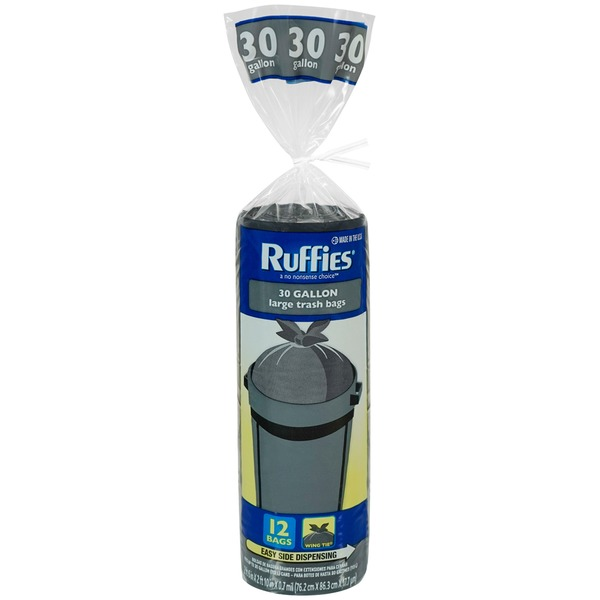 Ruffies Large 30 Gallon Wing Tie Trash Bag