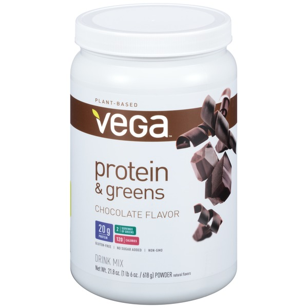Vega Protein & Greens Chocolate Flavor Drink Mix