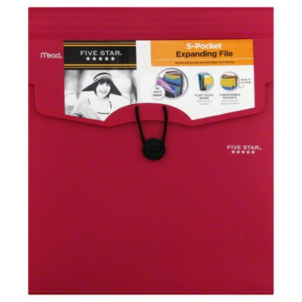 Mead Five Star Expanding File With Removable Files 5 Pocket