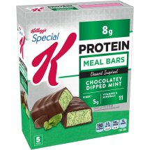 Kellogg's Special K Bar, 8 Grams of Protein, Chocolatey Dipped Mint Dessert-Inspired, 1.59 Oz, 5 Ct