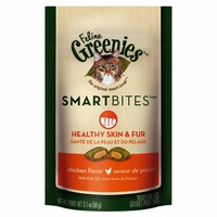 Greenies Feline Smartbites Healthy Skin & Fur Chicken Flavor Cat Treats