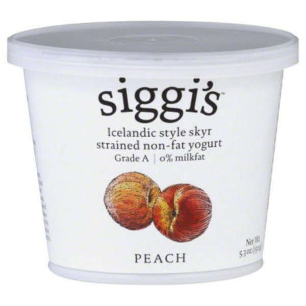 Siggi's Strained Non-Fat Peach Icelandic Style Skyr Yogurt