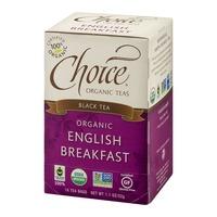 Choice Organic Teas Black Tea Organic English Breakfast Tea Bags - 16 CT