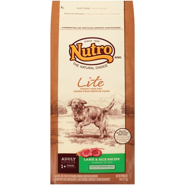 Nutro Adult Lite Weight Loss Diet Lamb & Rice Recipe Dog Food