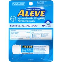 Aleve Tablet, Pain Reliever/Fever Reducer, 10ct Carded Pack