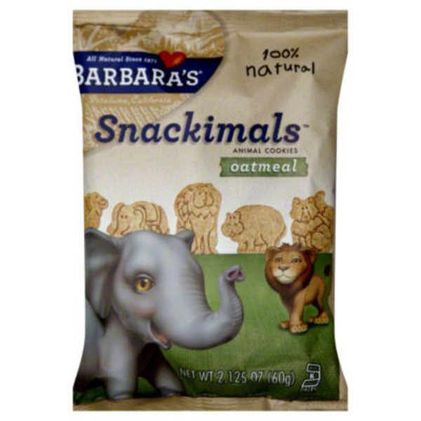Snackimals Cookies Oatmeal Animal Cookies