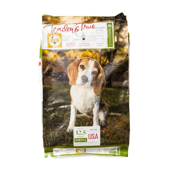 Tender And True Pet Food Organic Chicken And Liver  Dry Dog Food