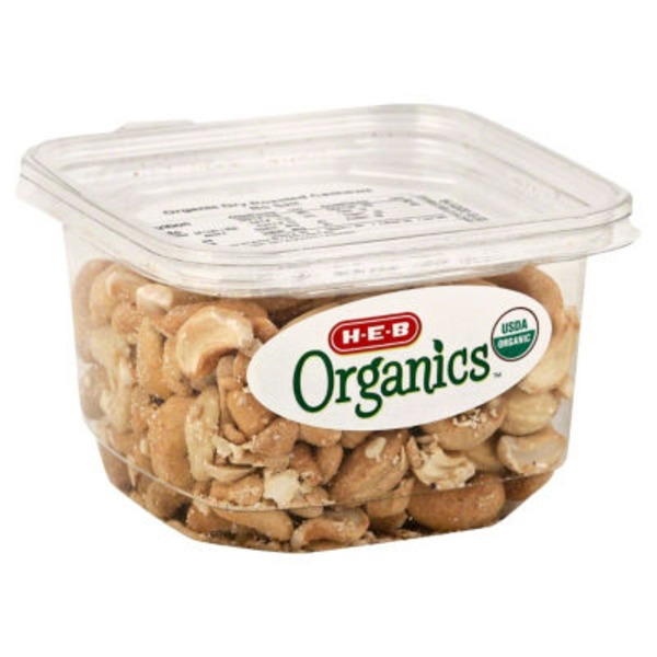 H-E-B Organics Unsalted Dry Roasted Cashews
