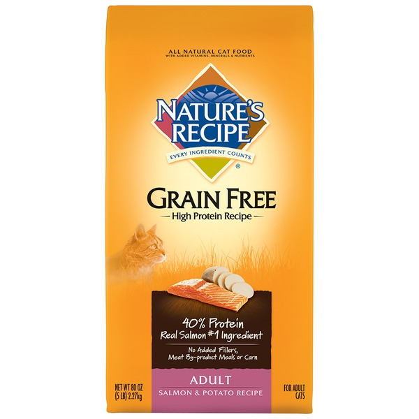 Nature's Recipe Adult Grain Free Salmon & Potato Recipe Cat Food