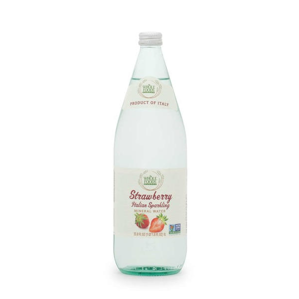 Whole Foods Market Strawberry Italian Sparkling Mineral Water