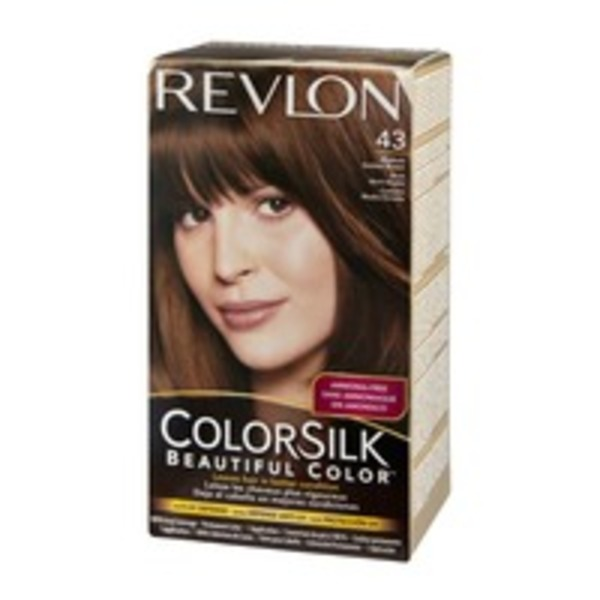 Revlon ColorSilk 43 Medium Golden Brown Permanent Hair Color