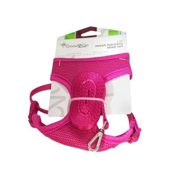 Good 2 Go Cat Mesh Harness Lead Set