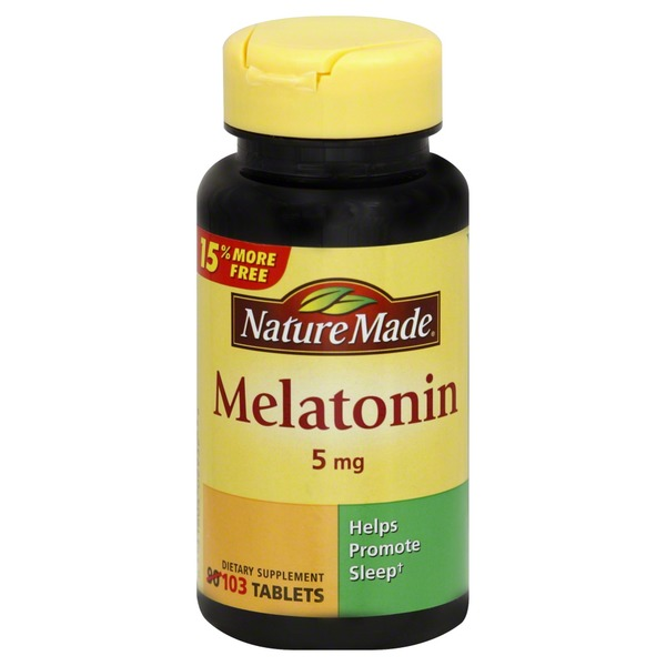 Nature Made Melatonin, Maximum Strength, 5 mg, Tablets