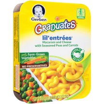 Gerber Graduates Lil' Entrees Macaroni & Cheese with Peas & Carrots, 6.6 Ounce
