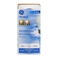 GE Reveal 50/100/150W 3 Way Bulb