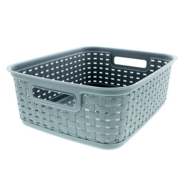 Sterilite Short Weave Basket Cement Gray