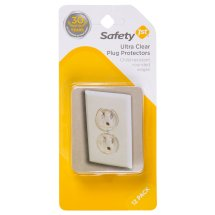 Safety 1ˢᵗ Ultra Clear Plug Protectors (12pk), Clear