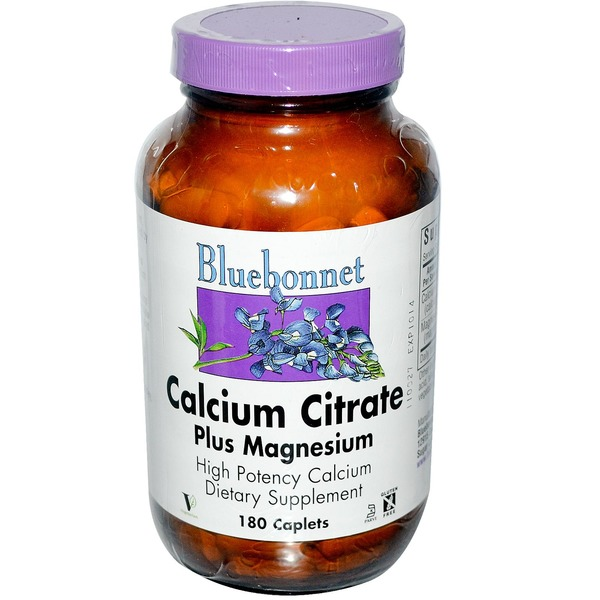 Bluebonnet Calcium Citrate Plus Magnesium High Potency