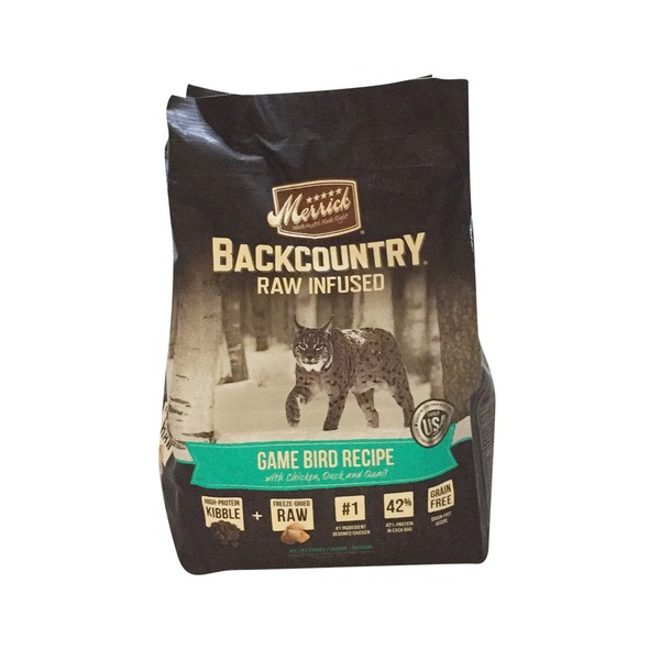 Merrick Backcountry Raw Infused Game Bird Recipe Dry Cat Food