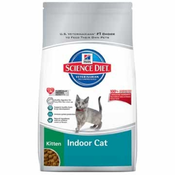 Hill's Science Diet Chicken Recipe Cat Food for Indoor Kittens Less Than One Years Old