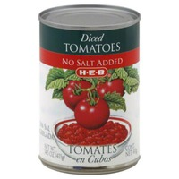 H-E-B Diced Tomatoes No Salt Added