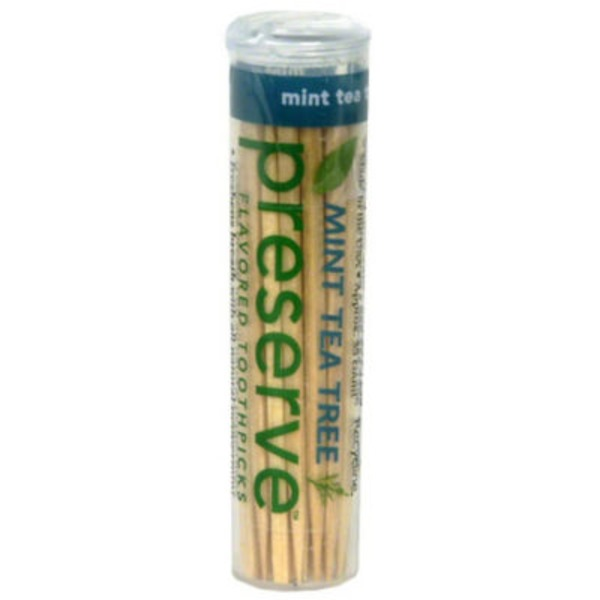Preserve Mint Tea Tree Flavored Toothpicks