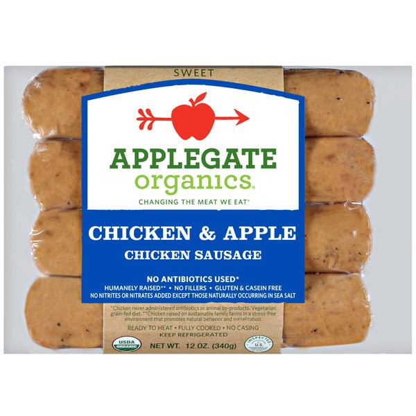 Whole Foods Applegate Organic Chicken Apple Dinner Sausage