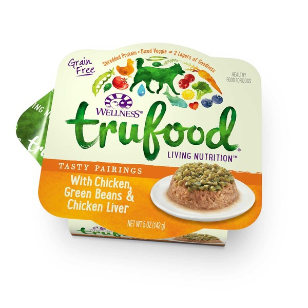 Wellness Tru Food Tasty Pairings With Chicken Green Beans & Chicken Liver Wet Dog Food 5 Oz. Case Of 24