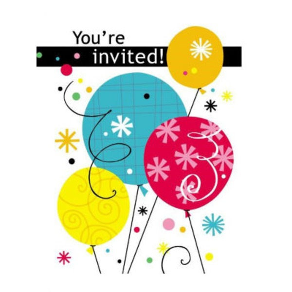 Unique Breezy Birthday Invitations
