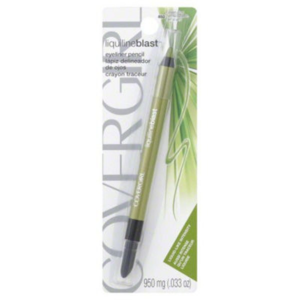 CoverGirl Liquiline Blast COVERGIRL LiquilineBlast Eyeliner Pencil, Green Glow .033 oz (950 mg) Female Cosmetics