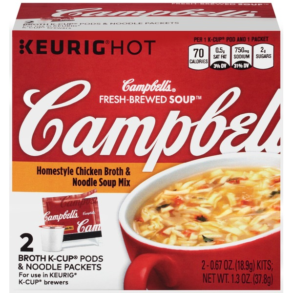 Campbell's Homestyle Chicken Broth & Noodle Fresh-Brewed Soup Mix