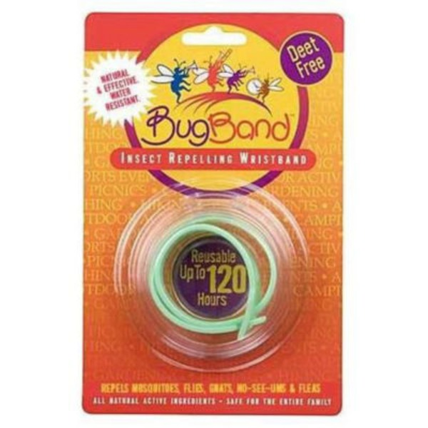 Bugband Light Green Insect Repellant Wristband