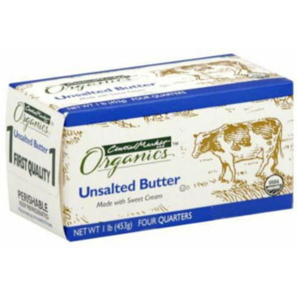 Central Market Unsalted Butter Made With Sweet Cream