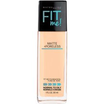 Maybelline New York Fit Me Matte + Poreless Foundation, 128 Warm Nude, 1.0 fl oz