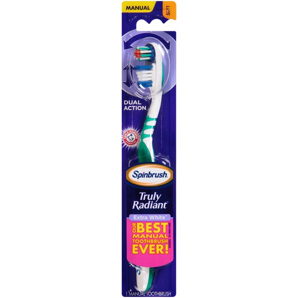 Arm & Hammer Spinbrush Truly Radiant Extra White Soft Manual Toothbrush