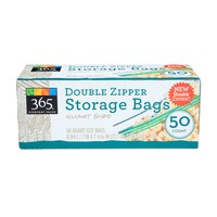 365 Quart Double Zipper Storage Bag