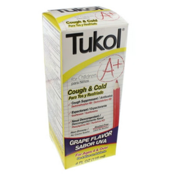 Tukol A+ Childrens Cough & Cold, Grape Flavor