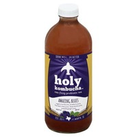 Holy Kombucha Tea, Raw Fizzy Probiotic, Amazing Blues