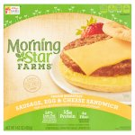 Morning Star Farms Veggie Breakfast Sandwich Sausage, Egg & Cheese - 4 CT
