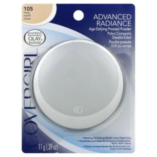 CoverGirl Advanced Radiance COVERGIRL Advanced Radiance Age-Defying Pressed Powder, Ivory .39 oz (11 g) Female Cosmetics