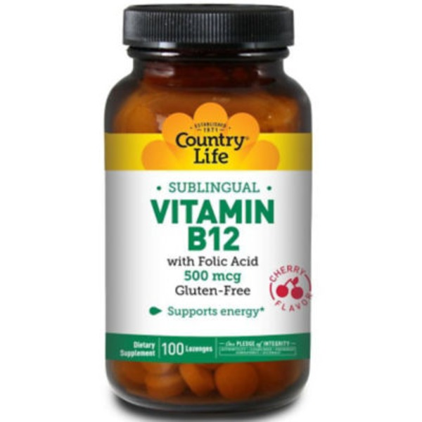 Country Life Vitamin B12 500 mcg Sublingual Lozenges