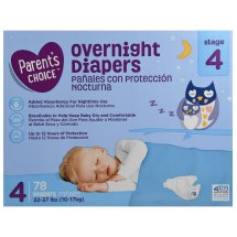 Parent's Choice Overnight Diapers, Size 4, 78 Diapers