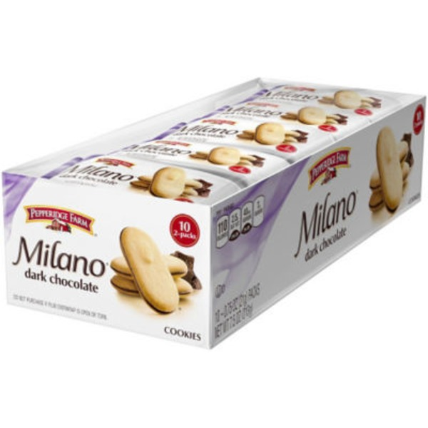 Pepperidge Farm Cookies Milano Dark Chocolate Cookies
