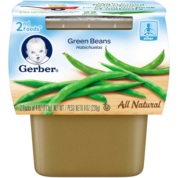 Gerber Foods Green Beans 2nd Foods