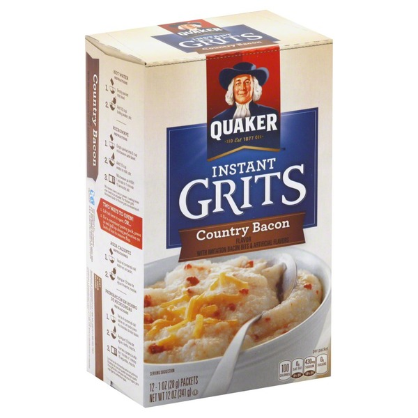 Quaker Grits, Instant, Country Bacon Flavor