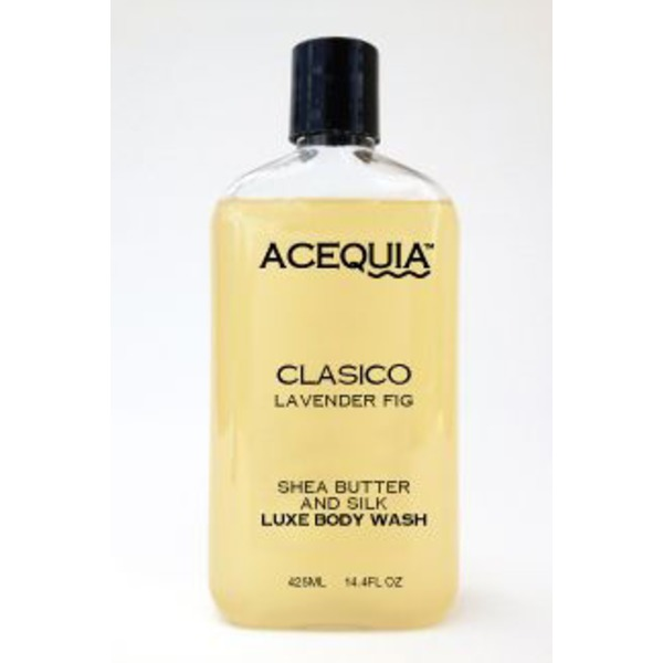 Acequia Classico Lavender Fig Shea Butter And Silk Luxe Body Wash